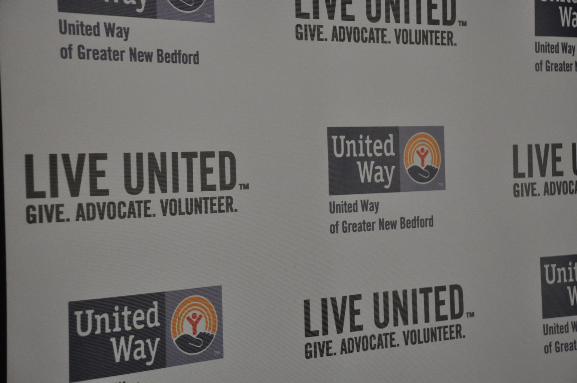 United way wall filled give advocate volunteer