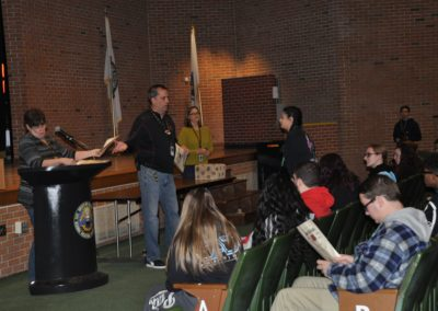 Mr. Pimental Handing out Bears awards