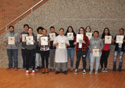 Photo students Holding Bears Awards