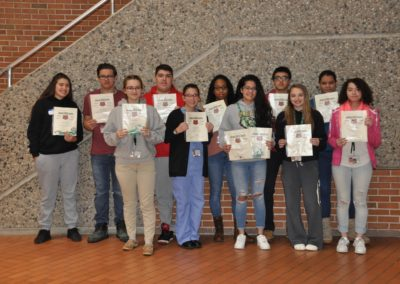 students with bears awards