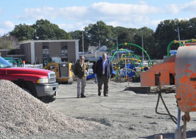 Mr. Gomes and Mr. Obrien at work site