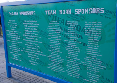 Team Noah's Sponsors