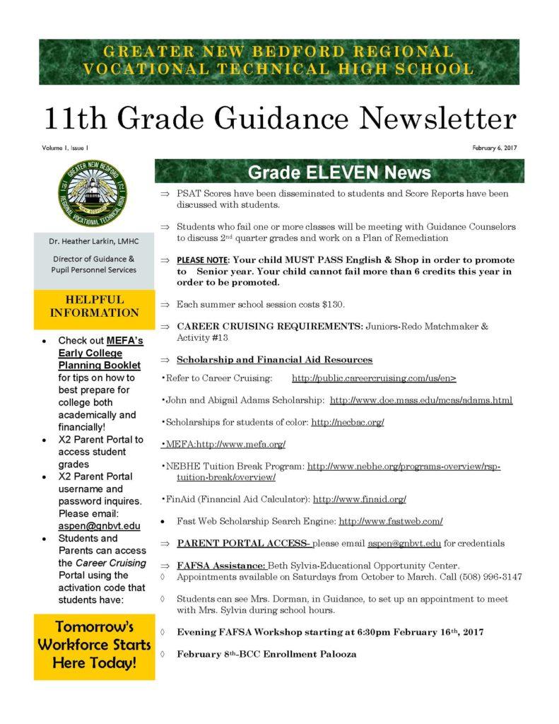 grade 11 newsletter
