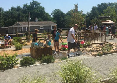 Charlie's Nature Play Family on Walkway