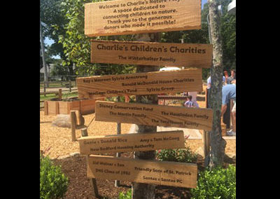 Charlie's Nature Play Signs