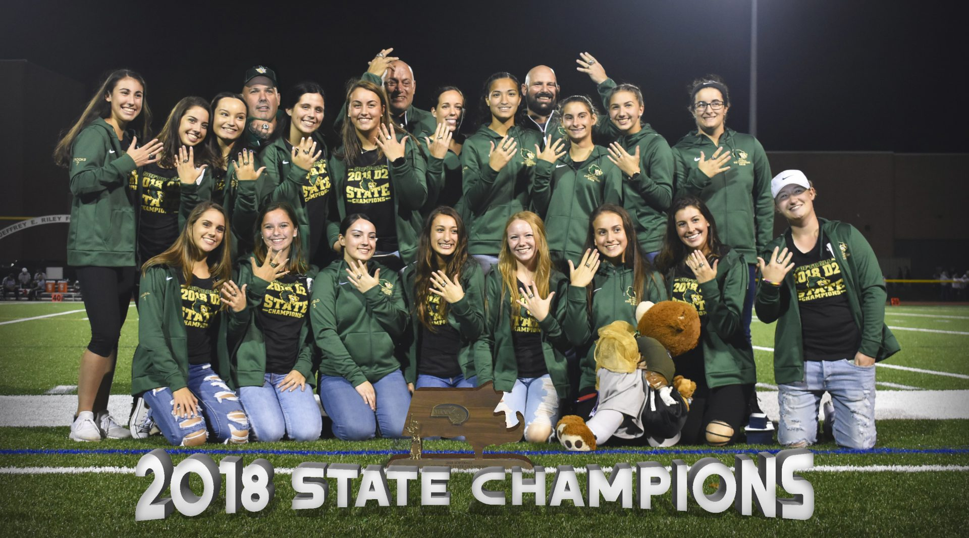 2018 Softball Ring Ceremony State Champions