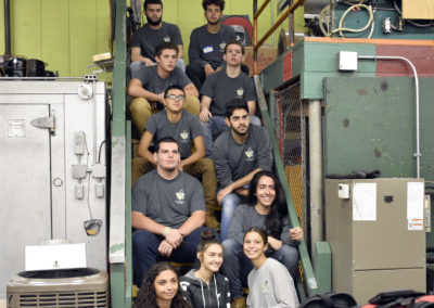 HVAC student group photo