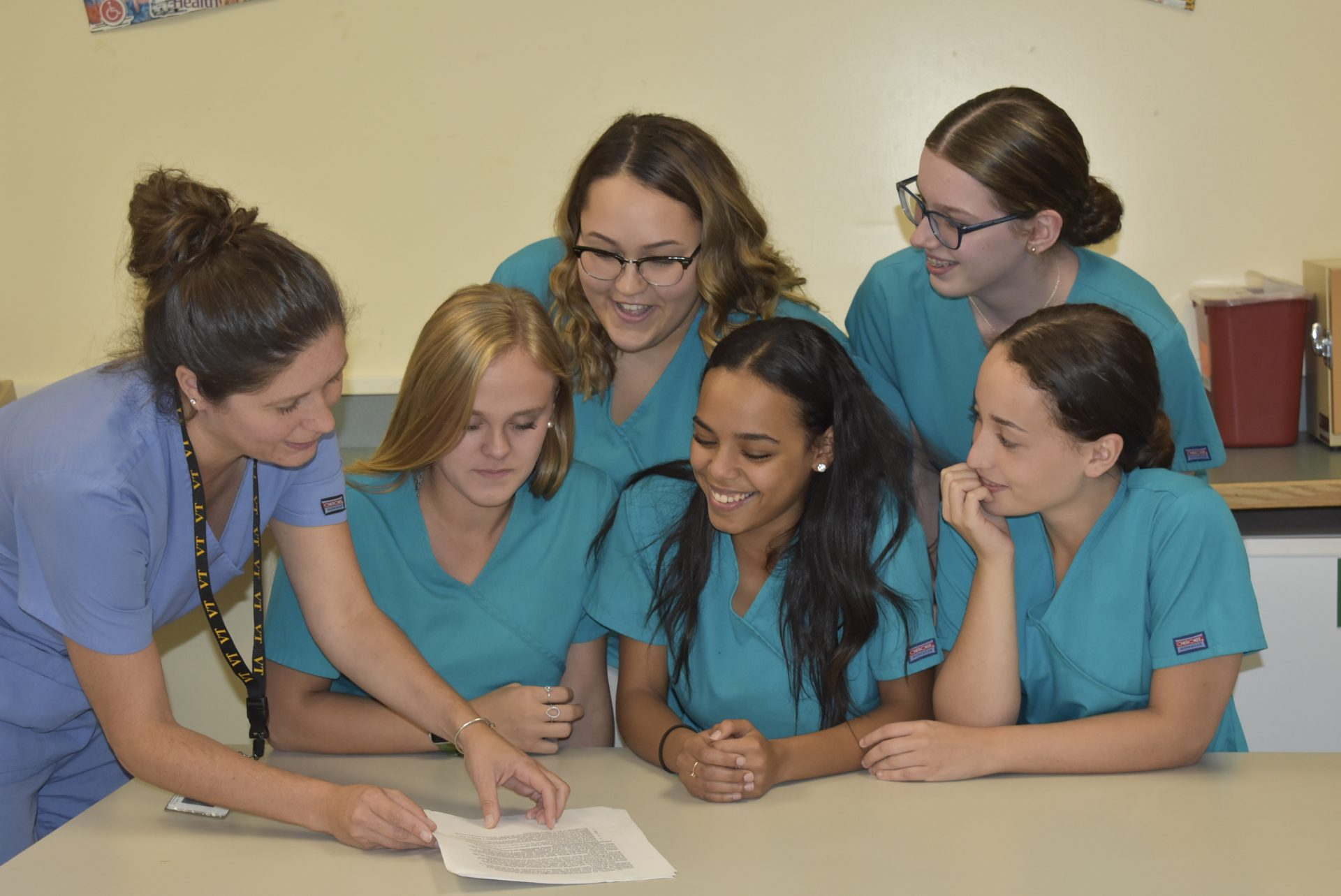 Medical Assisting teacher teaching students
