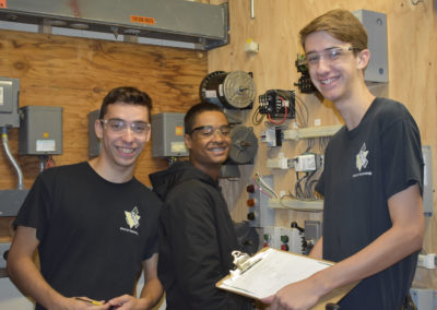 Electrical students smiling