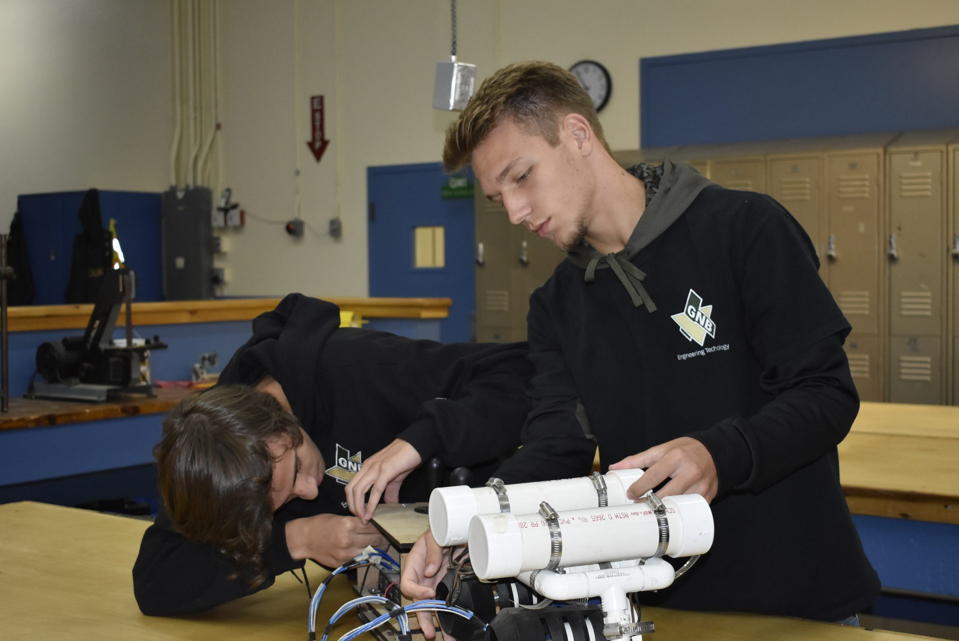 Engineering Students Working Together