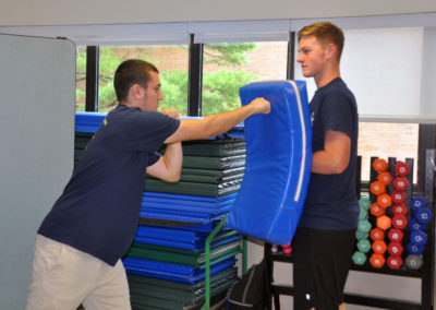 Legal and Protective Services students practice punching