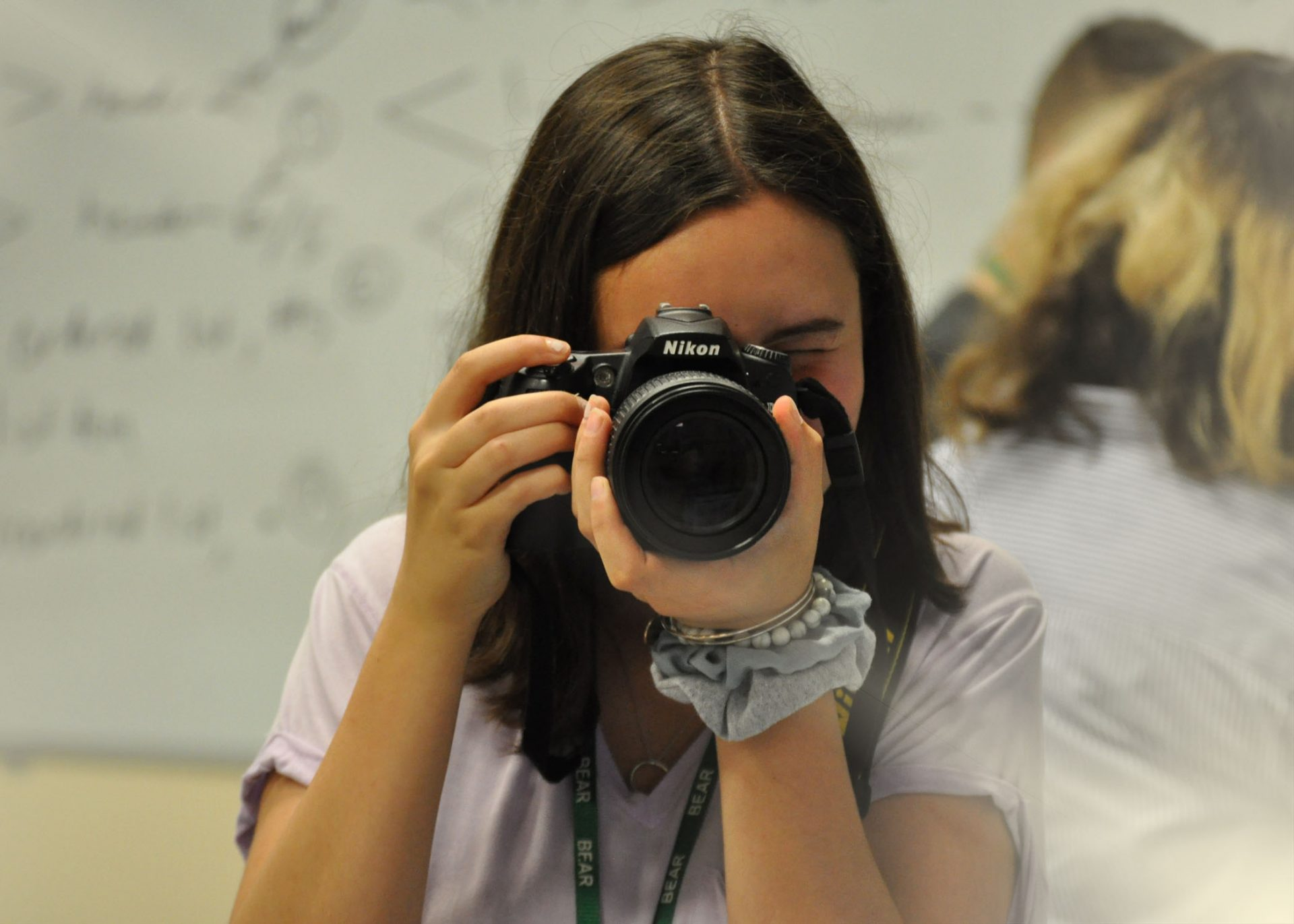 Media Technology student with a camera