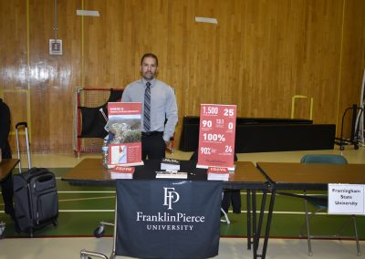 Advisor Standing At Franklin Pierce University Stand