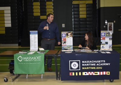 Advisors At Massasoit Community College & Massachusetts Maritime Academy Booths