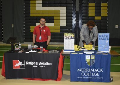 Advisors At National Aviation Academy & Merrimack College Booths
