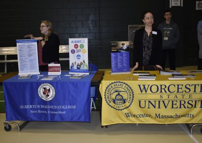 Advisors At Albertus Magnus College & Worcester State University Booths