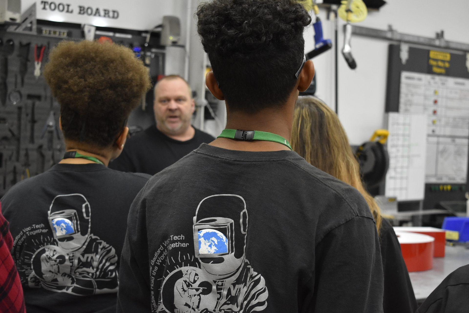 Welding Technology Students Listening to Presenter