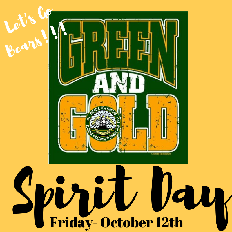 Green and gold Spirit day 10/12/18