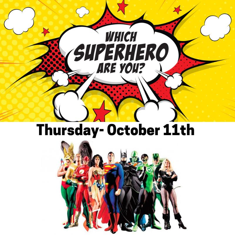 Superhero day for spirit week 10/11