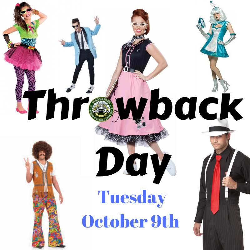 throwback day for spirit week 10/9