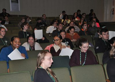 Student audience in the auditorium