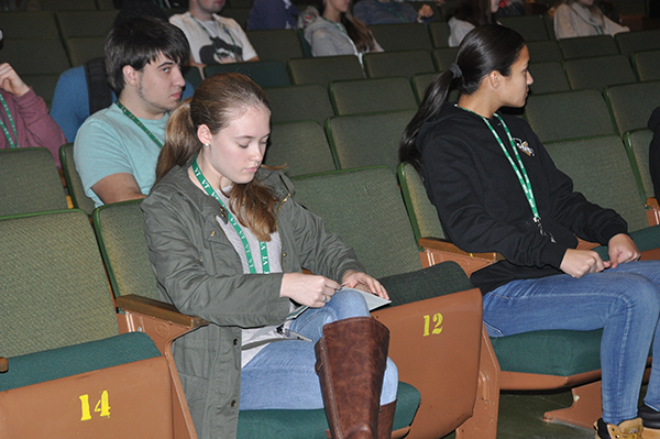 Student audience in the auditorium