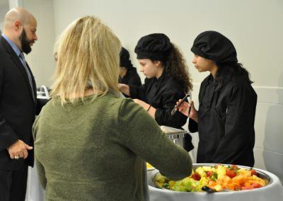 students serving food 2