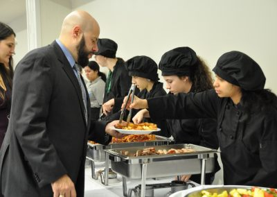 students serving food 3