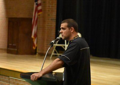Mr. Methia talking on the mic