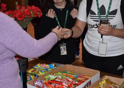 Buying candy (closer shot)
