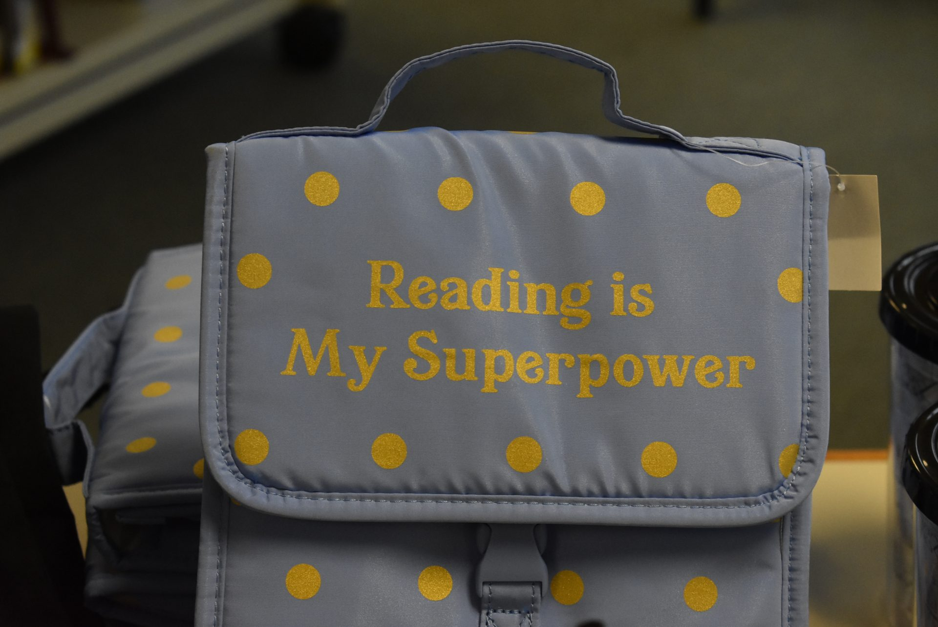 """""""Reading Is My Superpower"""" lunch box"""