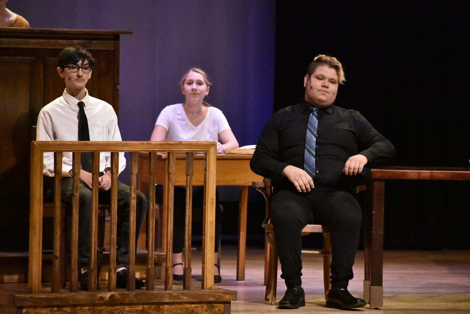 VTTC Actors on Stage acting upset