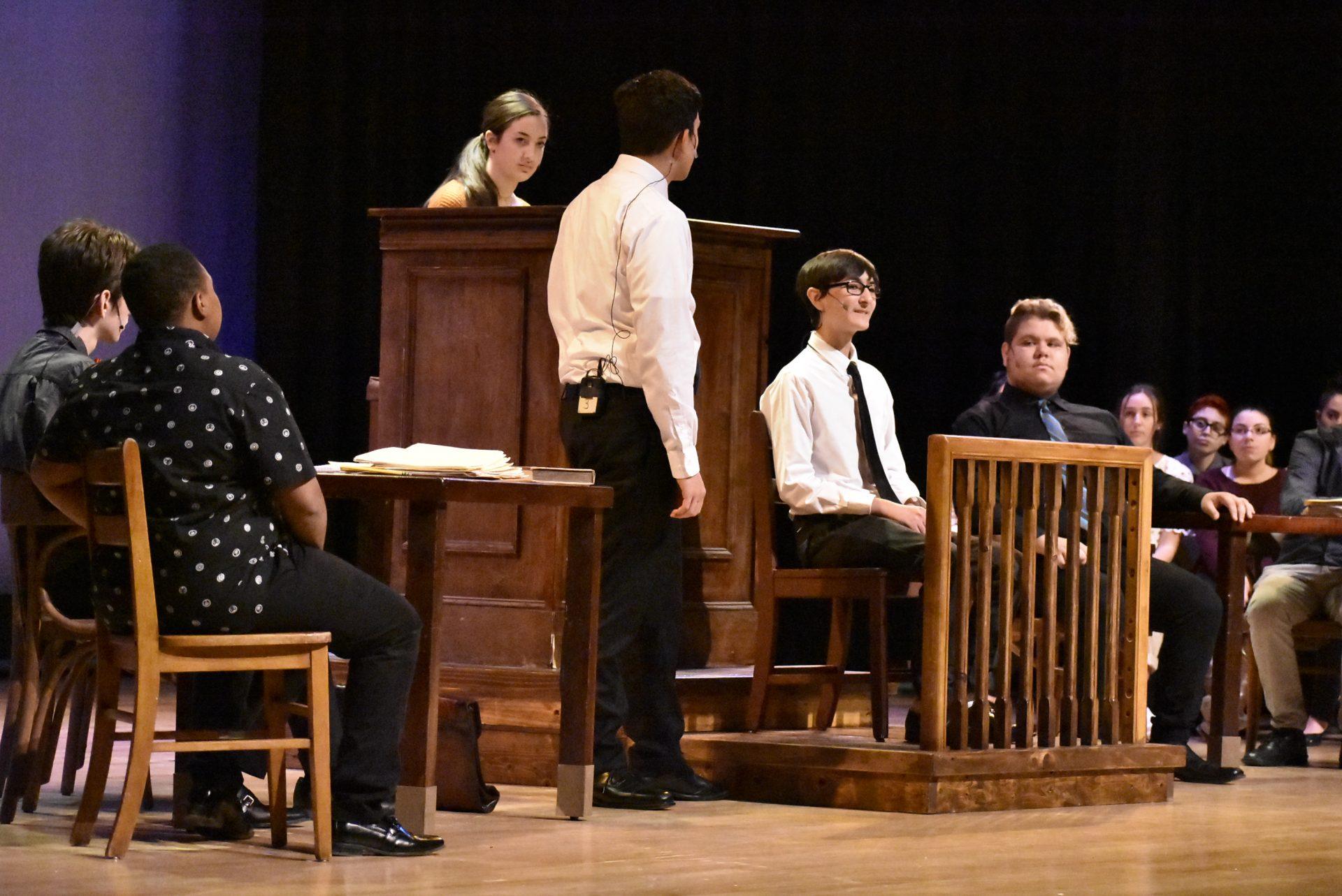 VTTC Actors on Stage debating