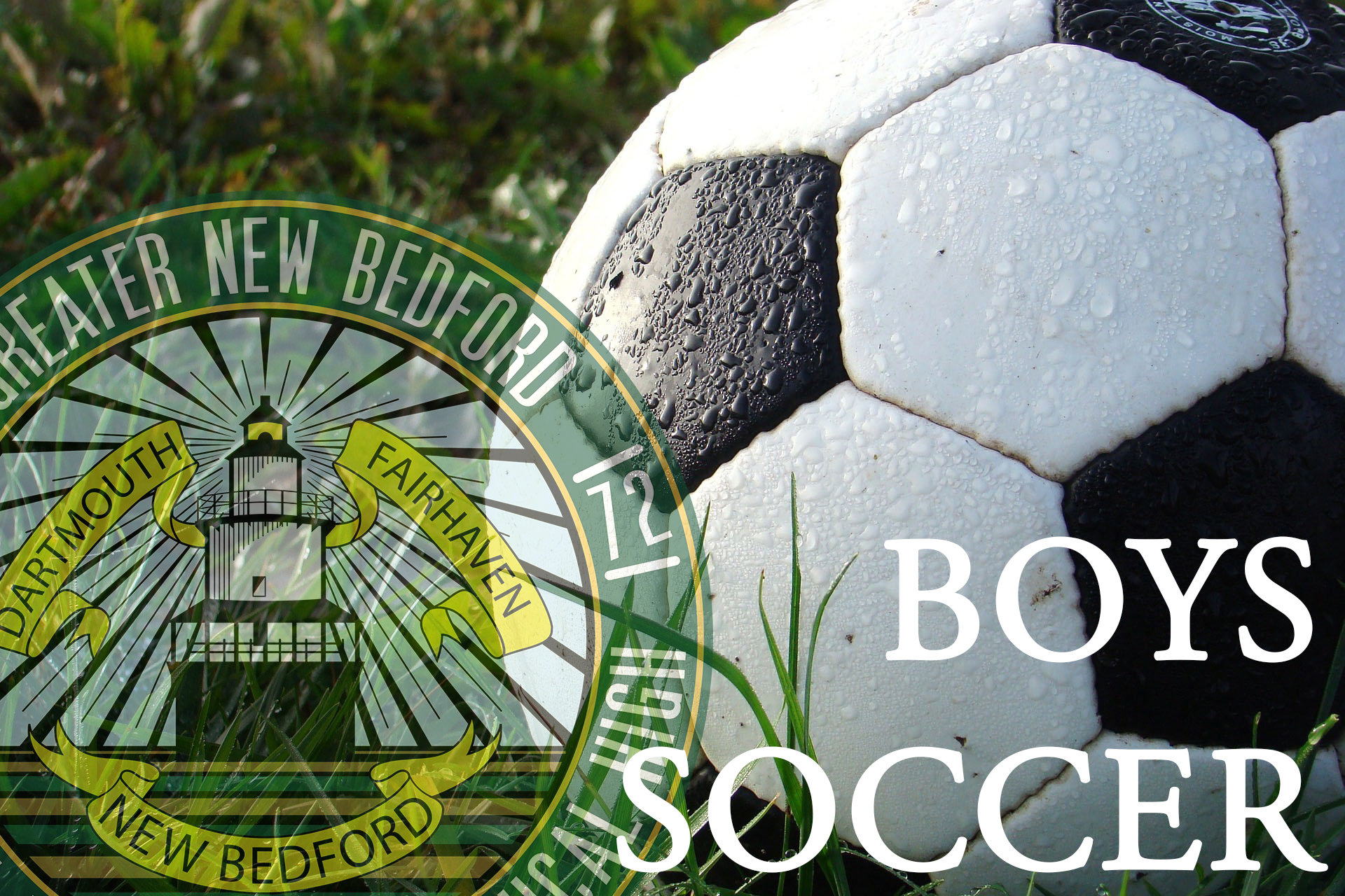 Fall Sports Boys Soccer image with faded gnbvt logo on left