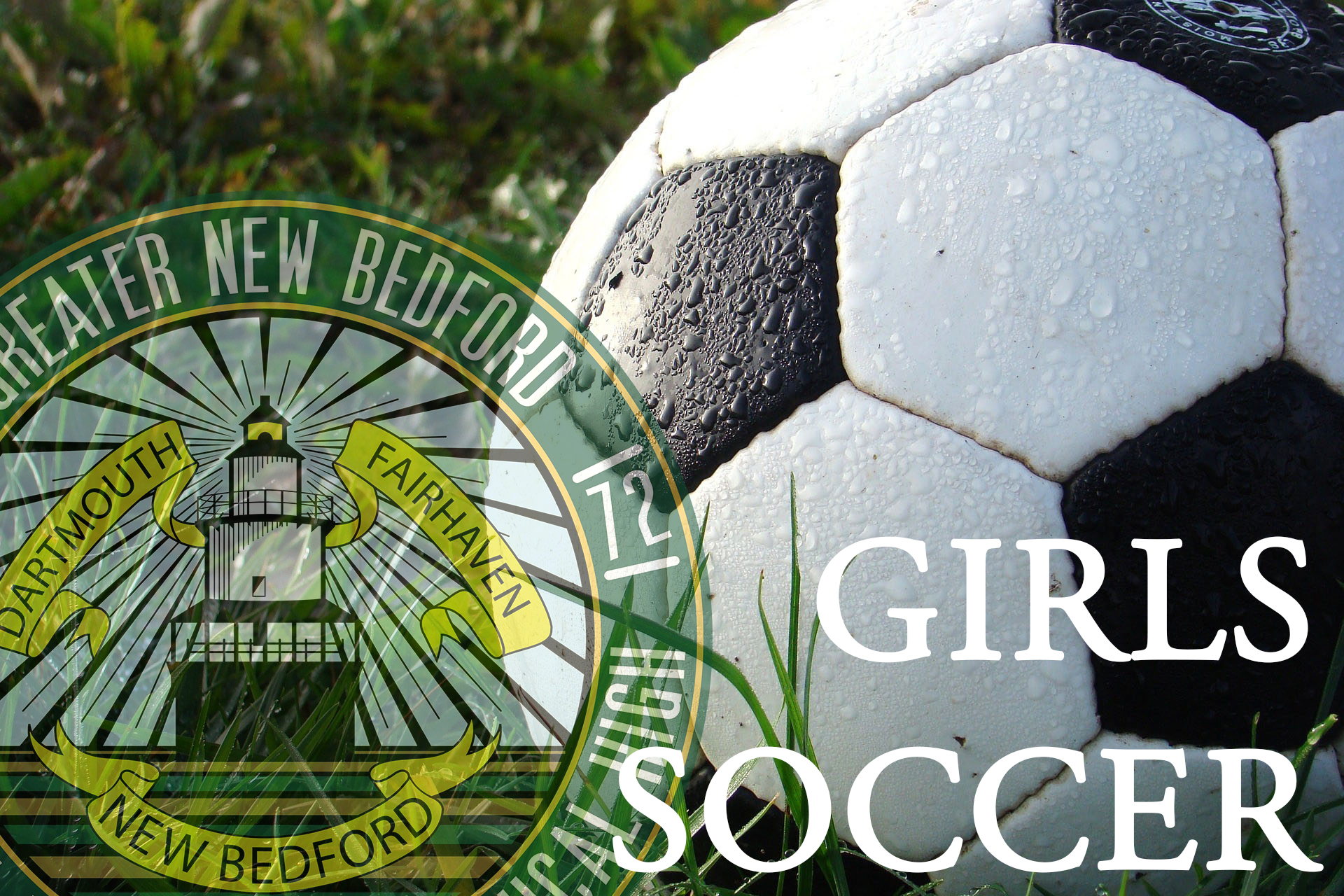 Fall Sports Girls Soccer image with faded gnbvt logo on left