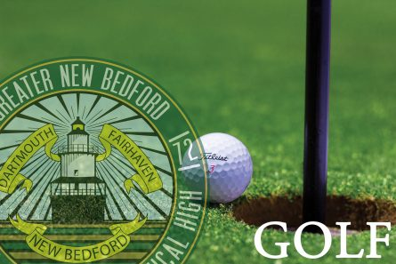 Fall Sports Golf image with gnbvt logo faded on left