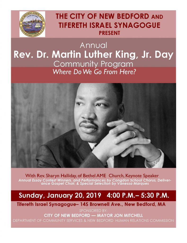 MLK flyer for Jan. 20