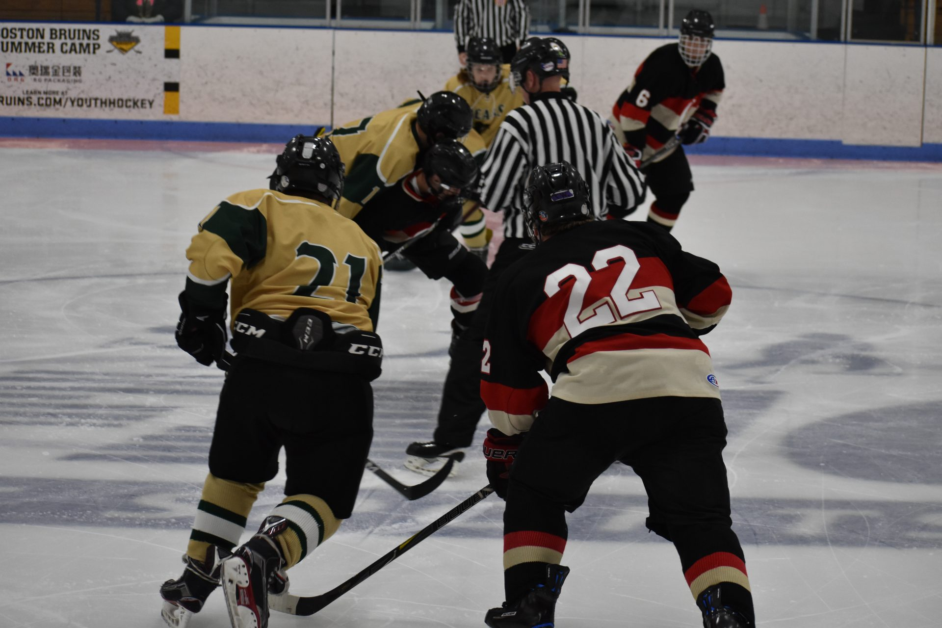 players at a face off