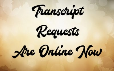 Transcript Requests are Now Online