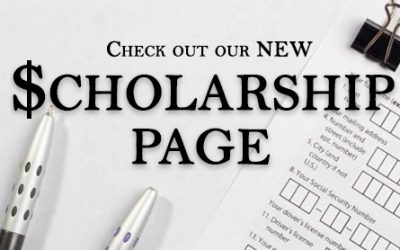 Check Out Our New Scholarship Page!