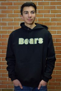 black bears hoodie hands in pockets