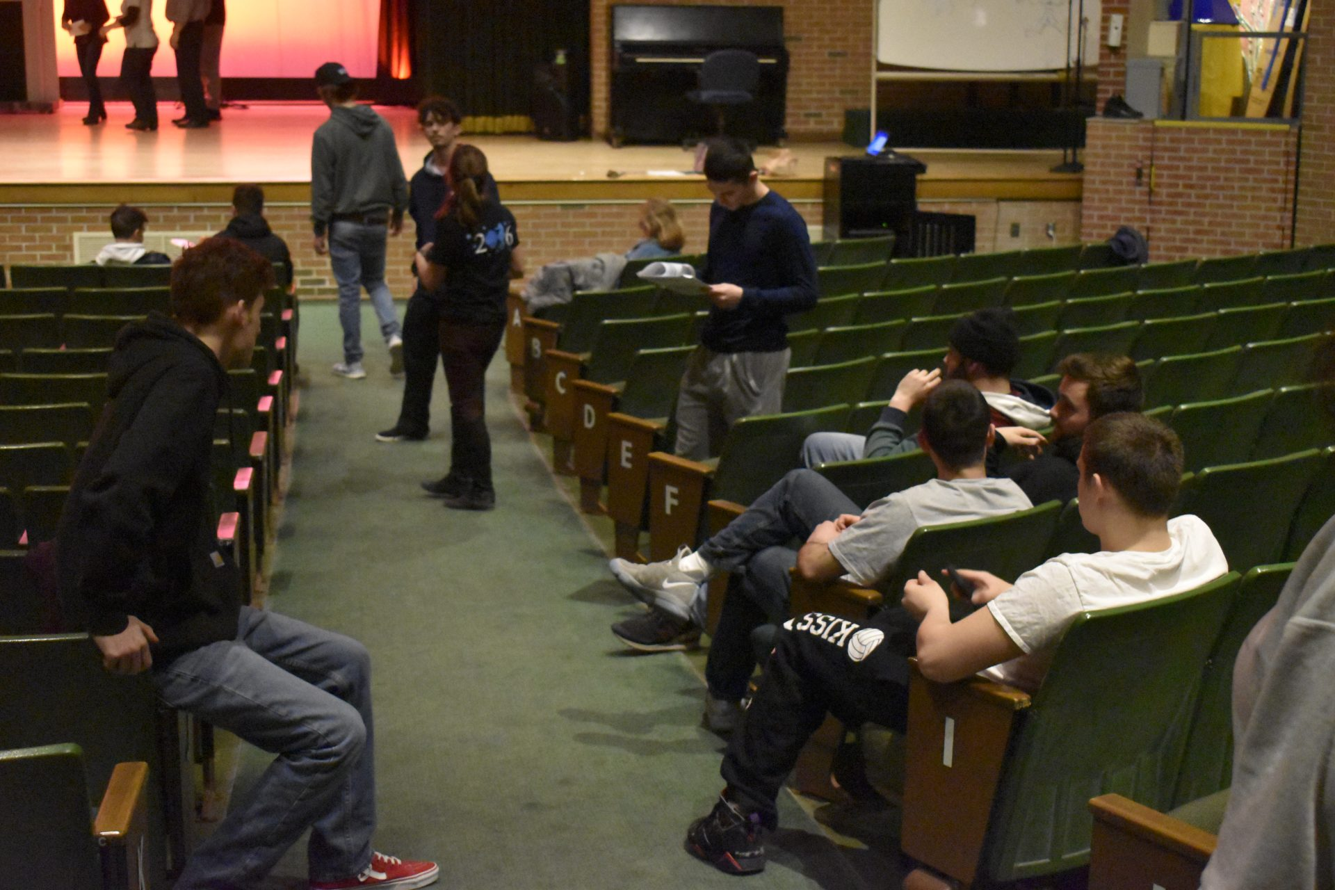Mr. Voc Tech Behind The Scenes students sitting