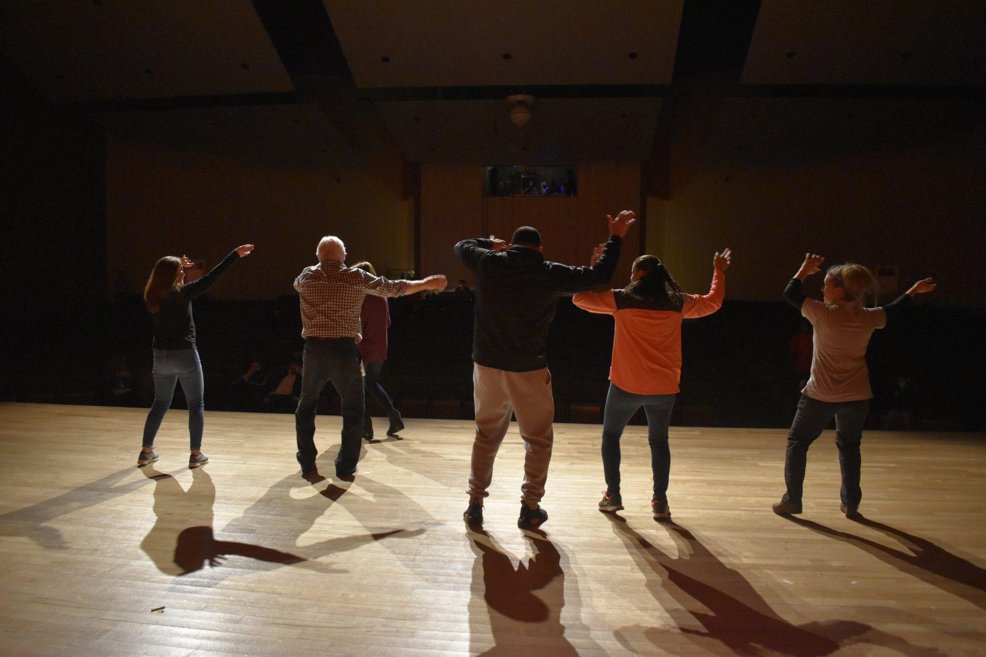 Mr. Voc Tech Opening teachers dance