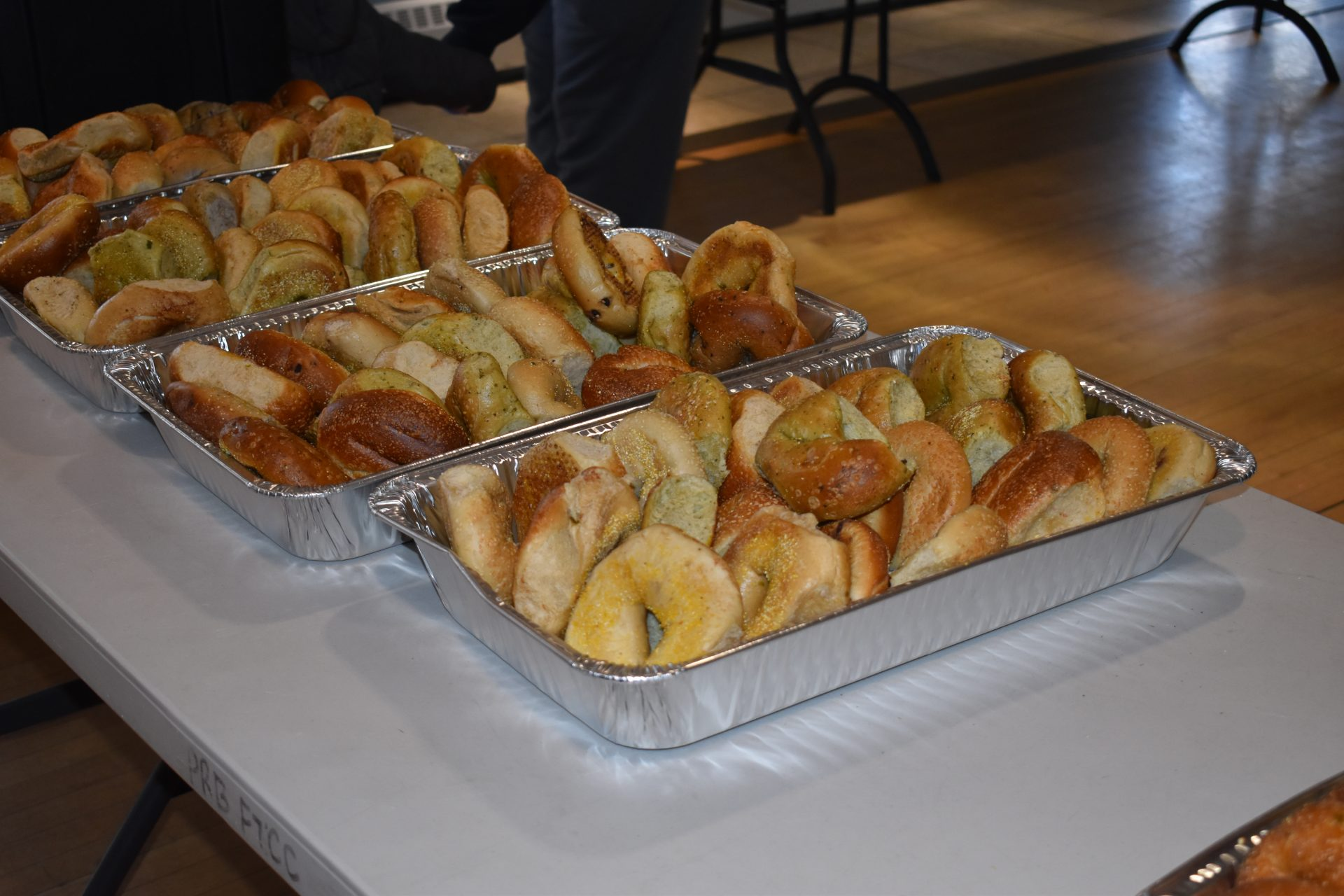 Breakfast Provided At Polar Plunge - Bagels