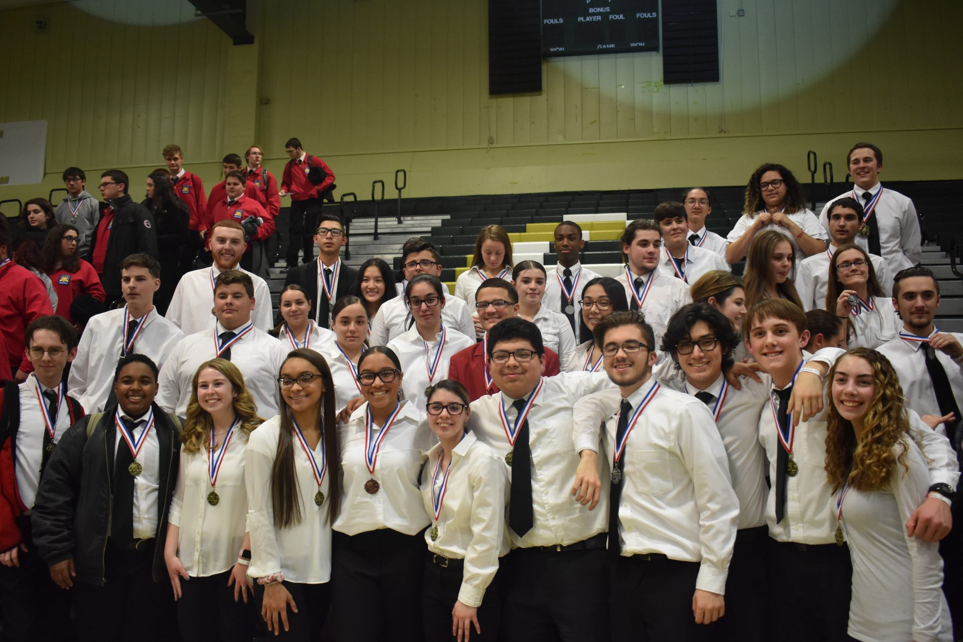 group shot of all the gnb voc tech winners in the skillsusa competition