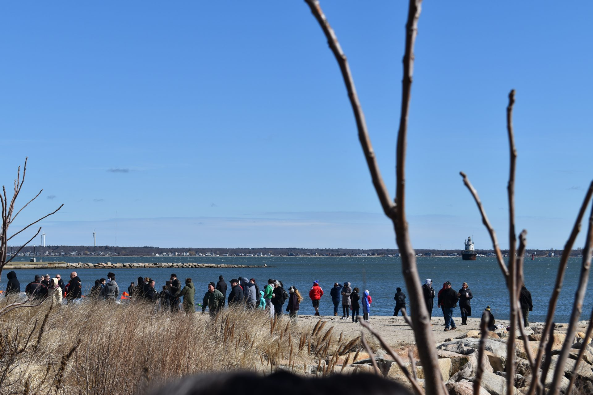 Far View Of Participants At East Beach