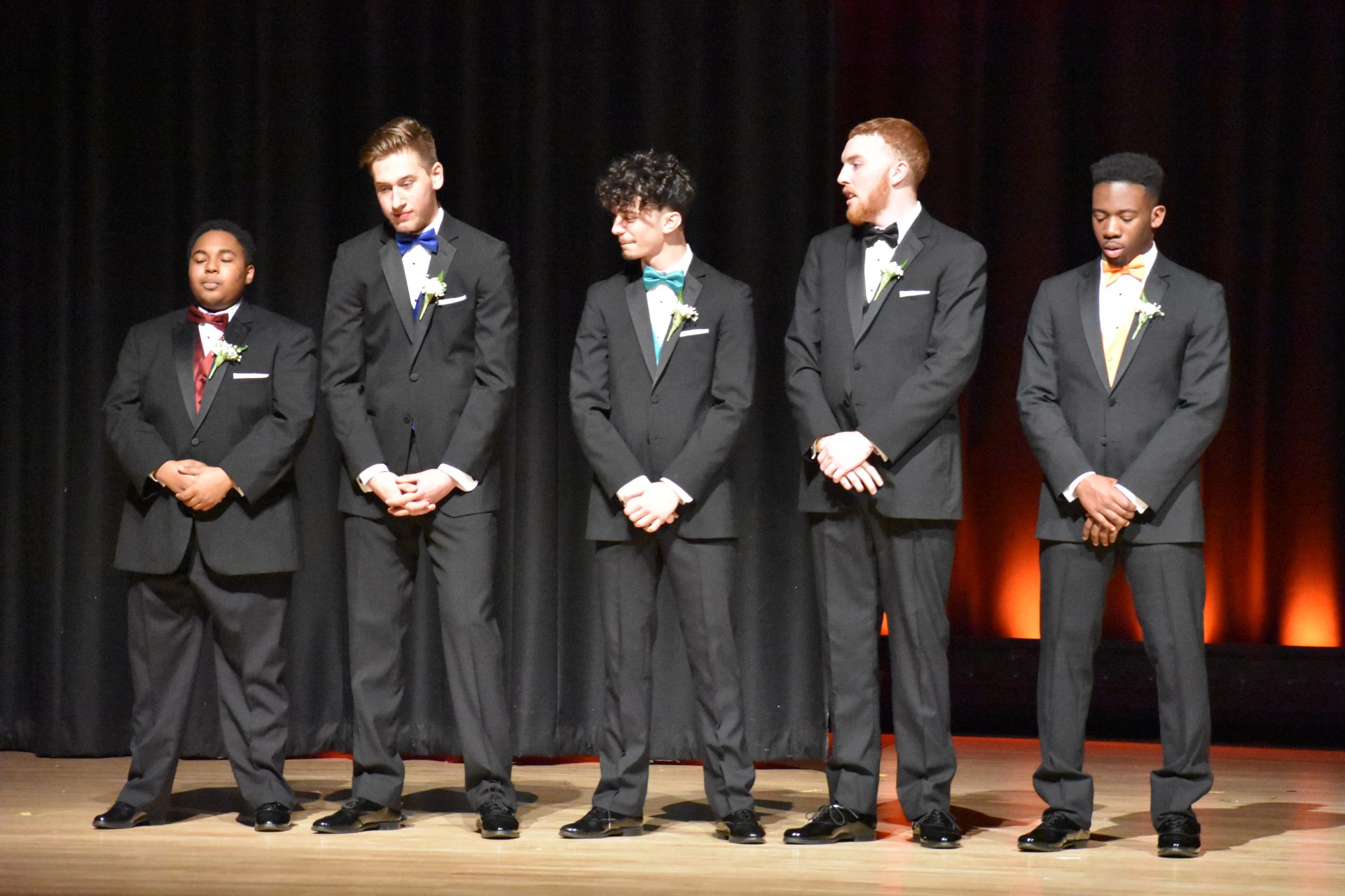 Jhona, Jacob, Joey, Dylan, Marvin standing in a line