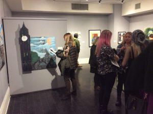 Teen Artist Internship art show