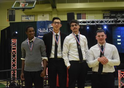 gnb voc tech medalist that competed in the skills usa competition