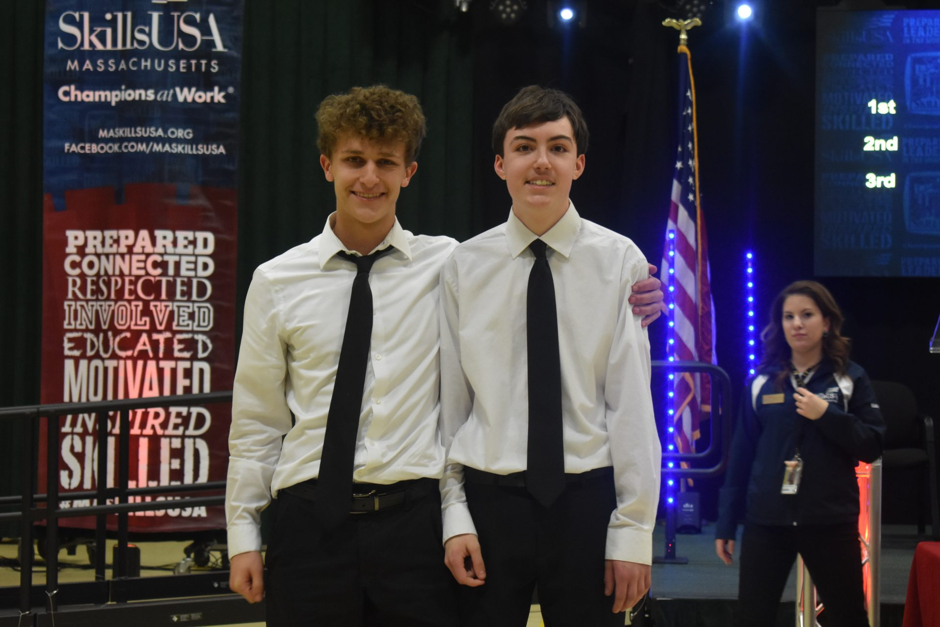 two gnb voc tech students that competed in the skills usa